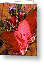 Dancer In Reds Greeting Card