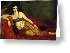 Dancer Of Delhi Betalo Rubino 1916 Greeting Card