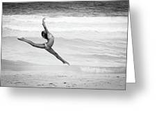 Dancer On Beach Greeting Card