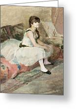 Dancer Seated On A Pink Divan 1884 Greeting Card