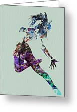 Dancer Watercolor Greeting Card