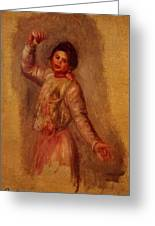 Dancer With Castenets 1895 Greeting Card