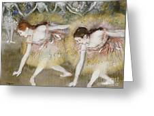 Dancers Bending Down Greeting Card