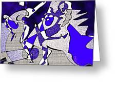 Dancers Dancing Greeting Card