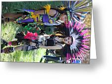 Dancers Day Of The Dead  Greeting Card