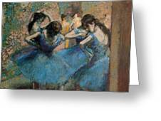 Dancers In Blue Greeting Card