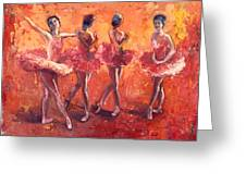 Dancers In The Flame Greeting Card