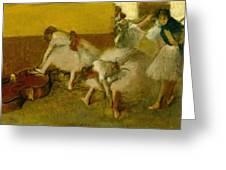 Dancers In The Green Room Greeting Card by Edgar Degas