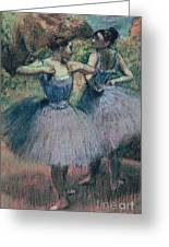 Dancers In Violet  Greeting Card