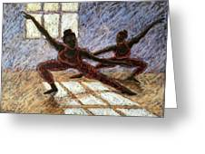 Dancers Near A Window Greeting Card