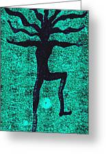Dancing At The Creation Of The Green Earth Greeting Card