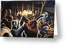 Dancing Bears Painting Greeting Card
