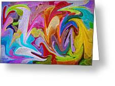 Dancing Colors Greeting Card