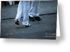 Dancing Feet At The Dominican Republic Son Party Number One Greeting Card