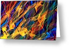 Dancing Flames Greeting Card