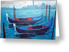 Dancing Gondolas Greeting Card