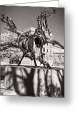 Dancing Horses Noir Greeting Card