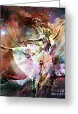 Dancing In Stardust Greeting Card