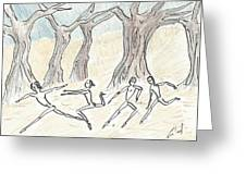 Dancing In The Mountain Greeting Card