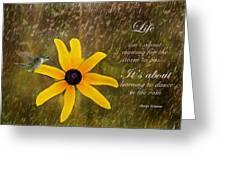 Dancing In The Rain Print Greeting Card