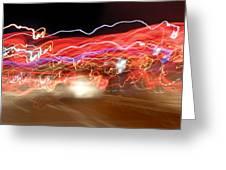 Dancing Light Streaks-2 Greeting Card