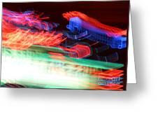 Dancing Neon Greeting Card