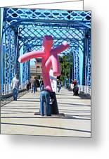 Dancing On The Bridge 1 Greeting Card