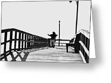 Dancing On The Pier Greeting Card