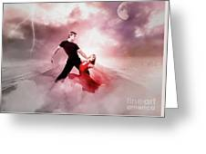 A Passionate Pair Dance In The Middle Of Nowhere, Who Embody The Strength And Subtlety Greeting Card