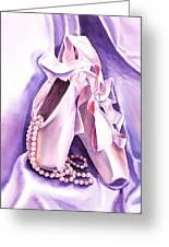 Dancing Pearls Ballet Slippers  Greeting Card