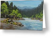 Dancing River Greeting Card