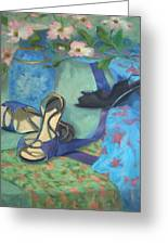 Dancing Shoes And Dogwoods Greeting Card