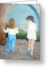 Dancing Sisters Greeting Card