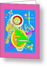 Dancing Spirals 2 Greeting Card