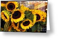Dancing Sunflowers Greeting Card
