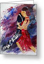 Dancing Tango Greeting Card
