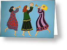 Dancing To The Music Greeting Card