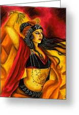Dancing With Fire Greeting Card