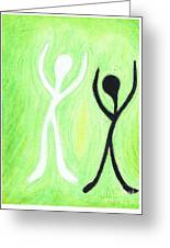 Dancing With My Shadow Greeting Card