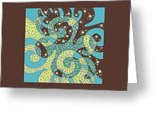 Dancing With Octopus Greeting Card