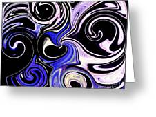 Dancing With The Swans Abstract Greeting Card