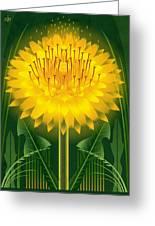 Dandelion Lion's Tooth Print Greeting Card