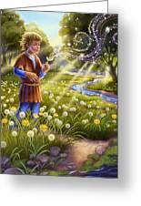 Dandelion - Make A Wish Greeting Card by Anne Wertheim