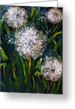 Dandelions Acrylic Painting Greeting Card