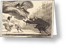 Danger De Porter Des Jupons-ballons... Greeting Card