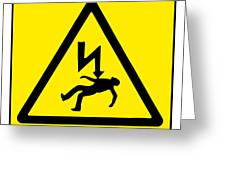 Danger Electricity Greeting Card