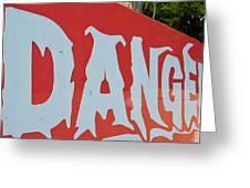 Danger - Global Warming Greeting Card
