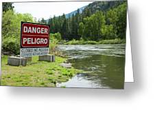 Danger Peligro Greeting Card