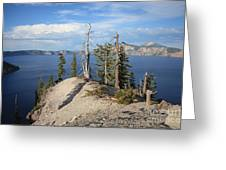 Dangerous Slope At Crater Lake Greeting Card