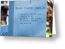 Daniel Chappie James Jr Greeting Card